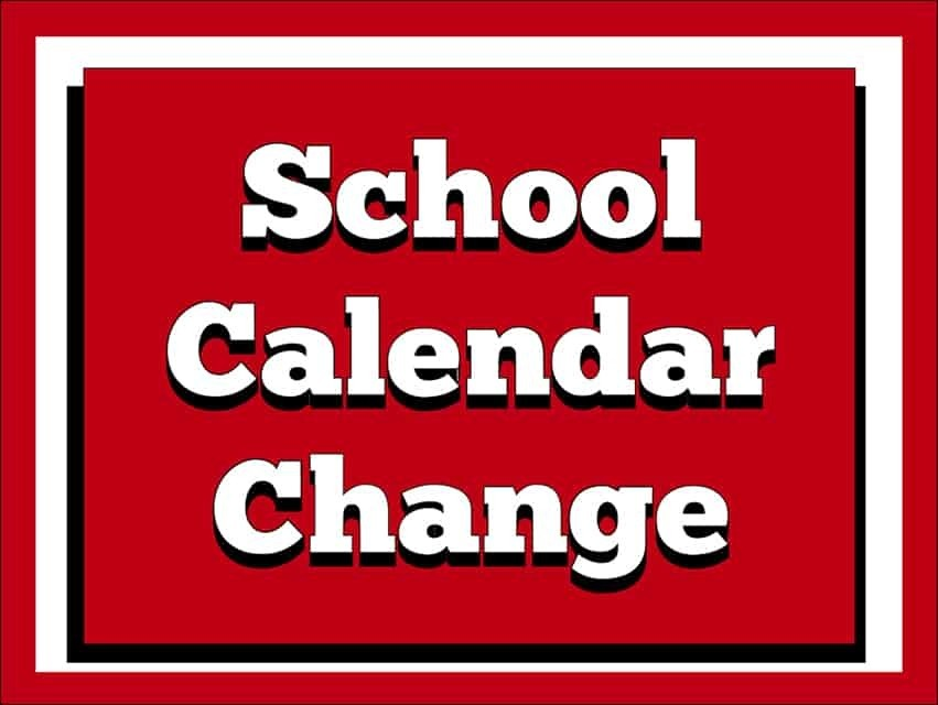 School Calendar Change! Monday, Nov. 2 | MN South News